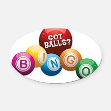 Got Balls? Oval Car Magnet