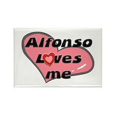 alfonso loves me Rectangle Magnet