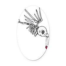 Skelebird Oval Car Magnet