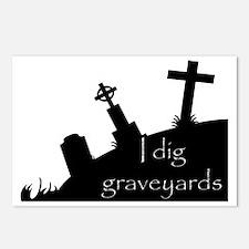 i dig graveyards Postcards (Package of 8)