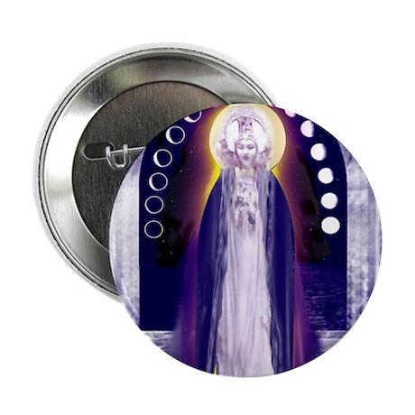 "KUAN YIN WATER-MOON GODDESS BLESSINGS 2.25"" Button"