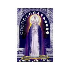 KUAN YIN WATER-MOON GODDESS BLESS Rectangle Magnet