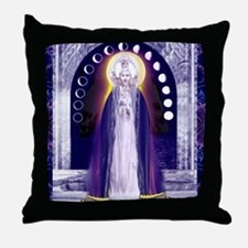 KUAN YIN WATER-MOON GODDESS BLESSINGS Throw Pillow