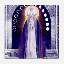 KUAN YIN WATER-MOON GODDESS BLESSINGS Tile Coaster