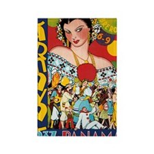 1937 Panama Carnival Rectangle Magnet