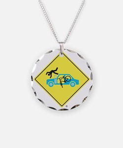 CAUTION SIGN - Bicycle Versu Necklace