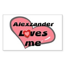 alexzander loves me Rectangle Decal