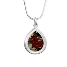 witches may be seen Silver Teardrop Necklace
