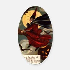 witches may be seen Oval Car Magnet