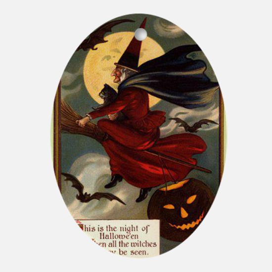 witches may be seen Oval Ornament