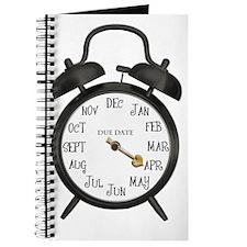 Black Alarm April Due Date Maternity Journal