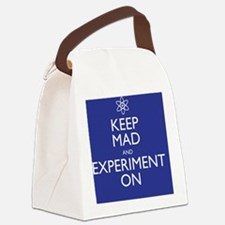 Keep Mad and Experiment On Canvas Lunch Bag