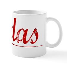 Rodas, Vintage Red Mug