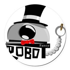 Fancy Robot Round Car Magnet