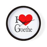 I Love Goethe Wall Clock