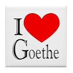 I Love Goethe Tile Coaster