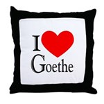 I Love Goethe Throw Pillow