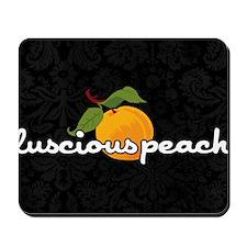 luscious peach laptop skin Mousepad