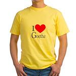 I Love Goethe Yellow T-Shirt