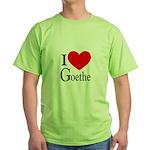 I Love Goethe Green T-Shirt