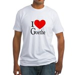 I Love Goethe Fitted T-Shirt