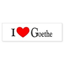 I Love Goethe Bumper Bumper Sticker