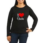 I Love Goethe Women's Long Sleeve Dark T-Shirt