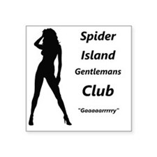 """The Horrors of Spider Islan Square Sticker 3"""" x 3"""""""