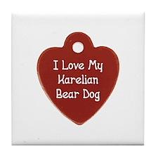 Love My Karelian Tile Coaster