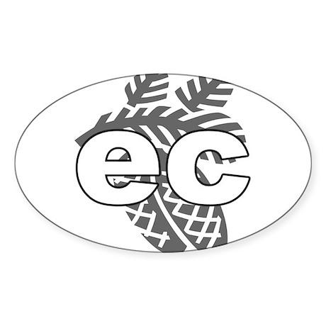 EC Oval Sticker