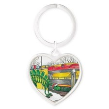 Santa at the Roadside Diner, Wall N Heart Keychain