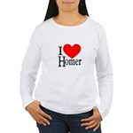 I Love Homer Women's Long Sleeve T-Shirt