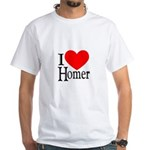 I Love Homer White T-Shirt