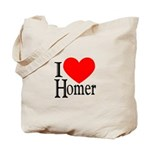 I Love Homer Tote Bag