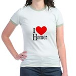 I Love Homer Jr. Ringer T-Shirt