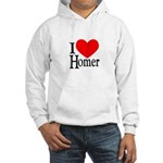 I Love Homer Hooded Sweatshirt