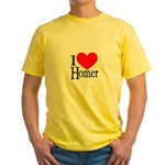I Love Homer Yellow T-Shirt