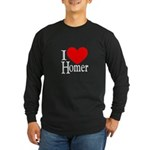 I Love Homer Long Sleeve Dark T-Shirt
