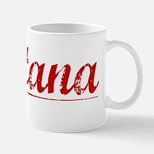 Santana, Vintage Red Small Small Mug