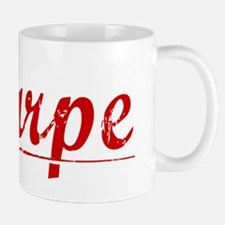 Sharpe, Vintage Red Mug
