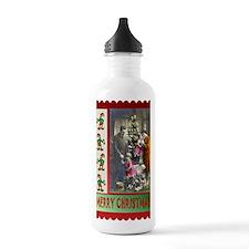 Retro family Christmas Water Bottle