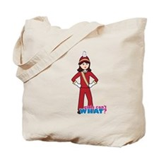 Marching Band Girl Red and Gold Tote Bag