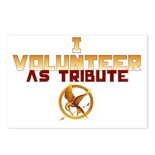 I volunteer as tribute Postcards (Package of 8)