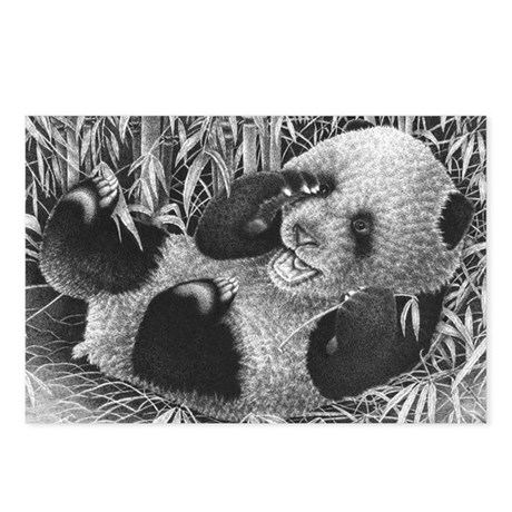 Giant Panda Cub Pillow Ca Postcards (Package of 8)