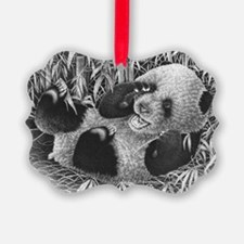 Rect Hitch Cover Giant Panda Cub Ornament