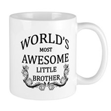 World's Most Awesome Little Brother Mug