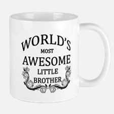 World's Most Awesome Little Brother Small Mugs