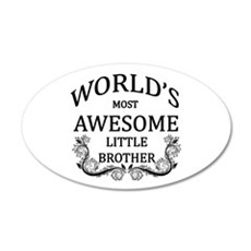 World's Most Awesome Little Brother Wall Decal