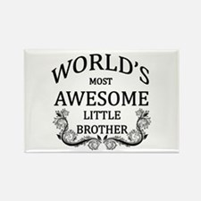 World's Most Awesome Little Brother Rectangle Magn