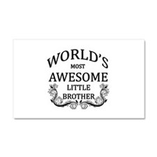World's Most Awesome Little Brother Car Magnet 20